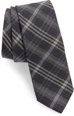 title of work Dotted Plaid Silk & Wool Tie