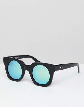 Jeepers Peepers retro sunglasses in chunky frame and tinted lens