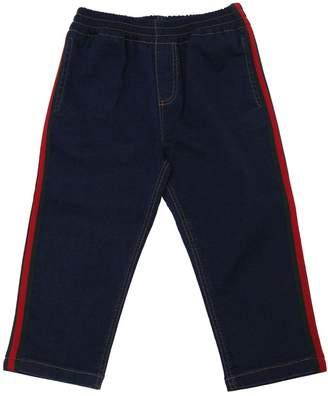 Gucci Denim Effect Cotton Sweatpants