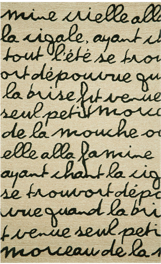 Liora Manné Area Rug, Indoor/Outdoor Promenade 2049/48 Poem Black 2'x8' Runner Rug