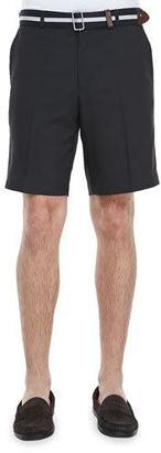 Peter Millar Salem High Drape Performance Shorts, Black $85 thestylecure.com