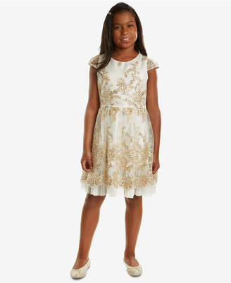 Rare Editions Big Girls Embroidered Party Dress