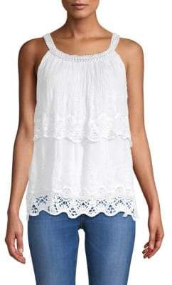 Le Marais Embroidered Double Layer Top