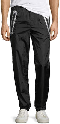 Moncler Contrast-Trim Nylon Pants