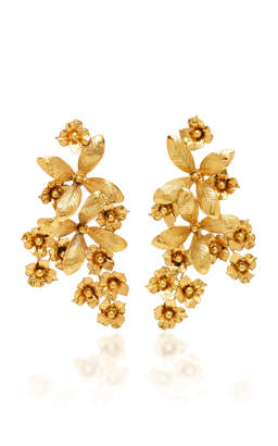 Jennifer Behr Gold-Plated Brass Flower Earrings