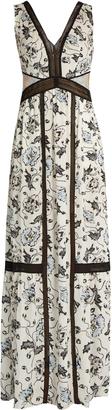SELF-PORTRAIT Clarissa floral-print crepe de Chine dress $510 thestylecure.com