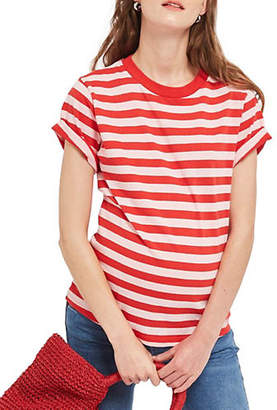 Topshop MATERNITY Striped Roll-Sleeve Tee