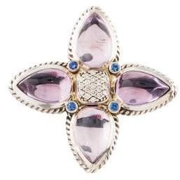 David Yurman Amethyst, Sapphire & Diamond Pendant