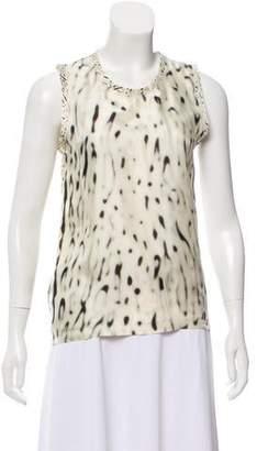 Calvin Klein Collection Printed Sleeveless Top