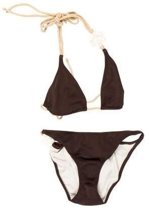Diane von Furstenberg Beaded Two Piece Swimsuit