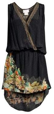 Camilla Silk Floral Printed High-Low Coverup