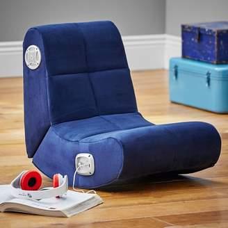 Pottery Barn Teen Suede Mini Rocker Speaker Chair, Navy