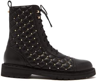 Valentino Rockstud Spike quilted-leather ankle boots