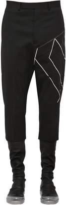 Rick Owens Virgin Wool Pants W/ Embroidery