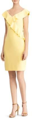 Lauren Ralph Lauren Ruffled Off-the-Shoulder Dress