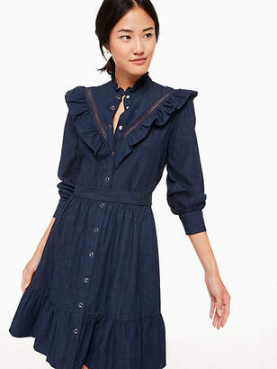 Kate Spade Chambray ruffle dress