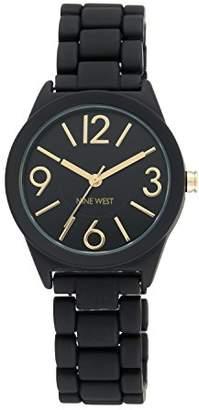 Nine West Women's NW/1812BKBK Matte Black Rubberized Bracelet Watch