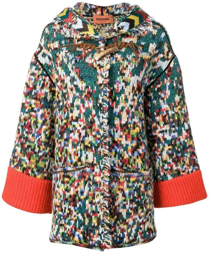 hooded cardi-coat