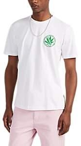 Central High Men's Leaf-Warning-Sign Cotton T-Shirt - White