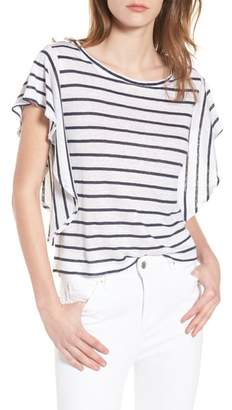 Cupcakes And Cashmere Cannon Stripe Linen Top