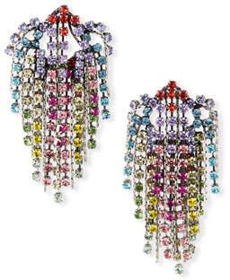 Dannijo Cecilia Rainbow Cluster Statement Earrings
