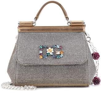 Dolce & Gabbana Sicily Mini tweed shoulder bag