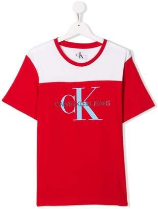 ffc9323594 Calvin Klein Kids TEEN logo print T-shirt