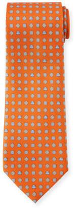 Salvatore Ferragamo Medallion-Print Silk Tie