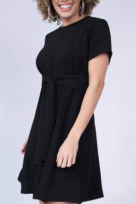 Ivy Jane / Uncle Frank Black Front-Tie Dress