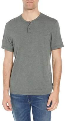 James Perse Cotton Blend Short Sleeve Henley