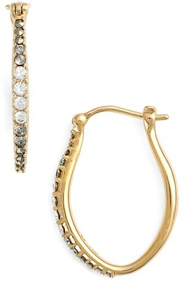 Women's Judith Jack Marcasite & Swarovski Crystal Hoop Earrings $98 thestylecure.com