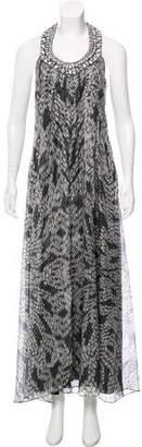 Diane von Furstenberg Embellished Metallic Dress