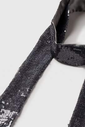 Wallis Silver Skinny Sequin Scarf