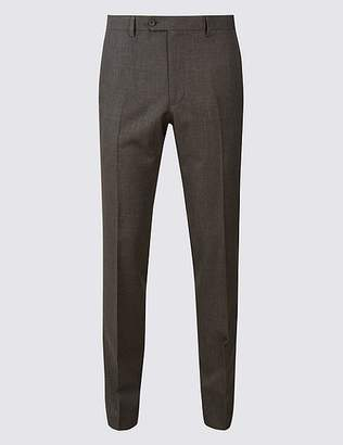 Marks and Spencer Slim Fit Flat Front Trousers