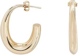 Argentovivo Tapered Hoop Earrings