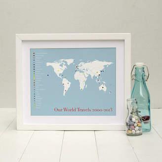 Globe-trotter Brambler 'The Globetrotter' Personalised Print