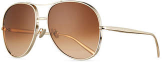 Chloé Nola Oversized Square Aviator Sunglasses