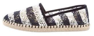 Louis Vuitton Striped Round-Toe Espadrilles