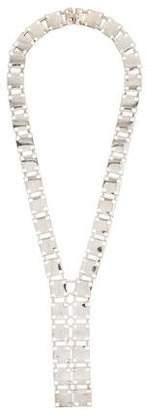 Christofle Square Linked Lariat Necklace