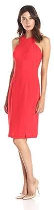 Lark & Ro Women's Sleeveless Cross Front Sheath Dress