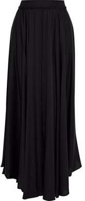 Milly Lou Lou Gathered Stretch-Silk Maxi Skirt
