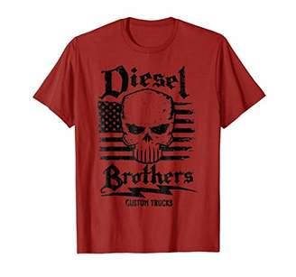 Diesel Brothers Custom Trucks Skull USA Flag Graphic T-Shirt