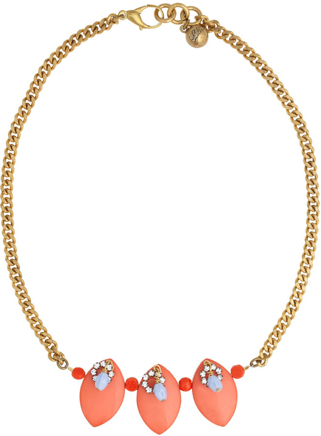 Lulu Frost Resin and crystal chain necklace