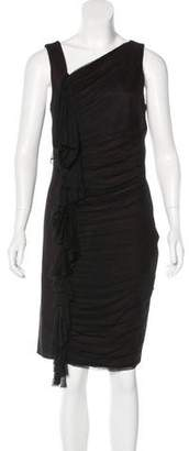 Robert Rodriguez Tulle-Trimmed Sleeveless Dress