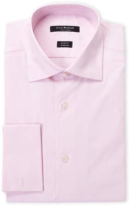 Isaac Mizrahi Pink French Cuff Stretch Slim Fit Dress Shirt