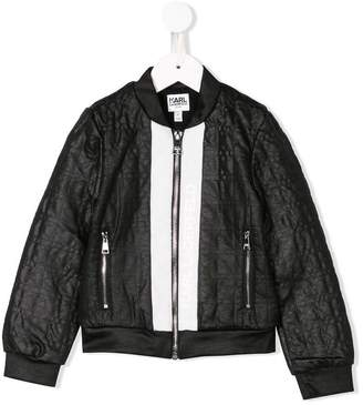 Karl Lagerfeld quilted effect bomber jacket
