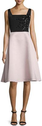 Rickie Freeman for Teri Jon Bicolor Faille Full-Skirt Cocktail Dress $560 thestylecure.com