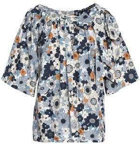 Chloé Floral-print Cotton Blouse