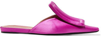 Marni Satin Slippers - Fuchsia