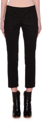 Agnona Fluid Stretch-Cotton Sateen Skinny Pants